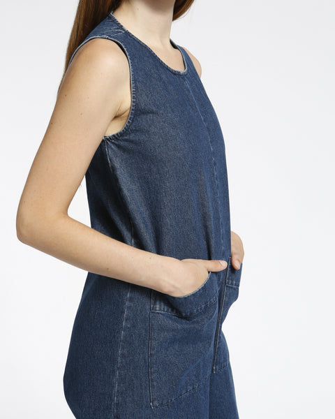 Harry Jumpsuit in Denim - Founders & Followers - Ilana Kohn - 6