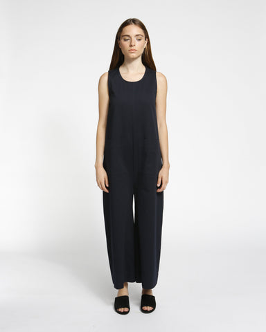 Harry Jumpsuit in Navy Twill - Founders & Followers - Ilana Kohn - 1