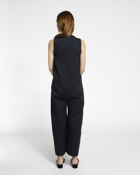 Harry Jumpsuit in Navy Twill - Founders & Followers - Ilana Kohn - 3