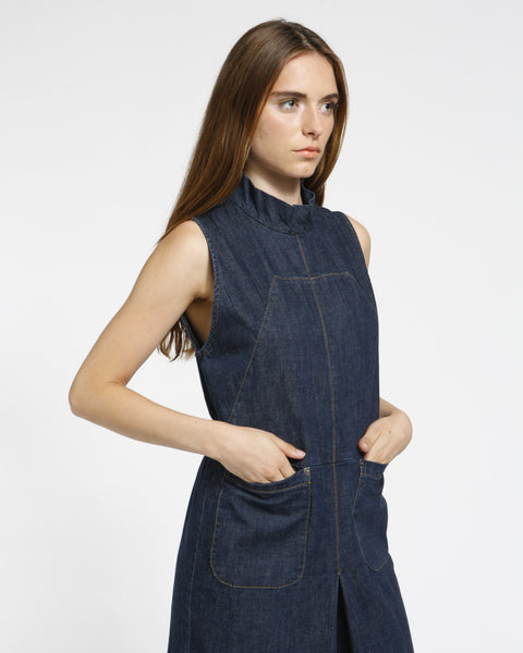 Badge jumpsuit in indigo - Founders & Followers - Rachel Comey - 5