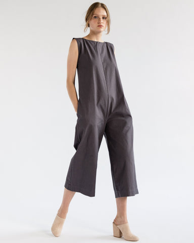 Adele jumpsuit in grey canvas