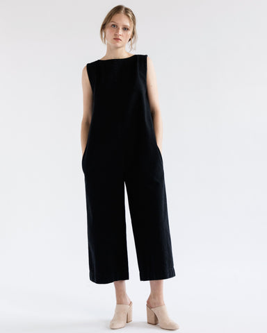 Adele jumpsuit in black denim