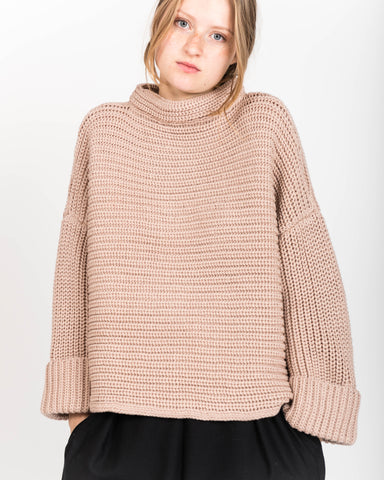 Blush alpaca parallel sweater