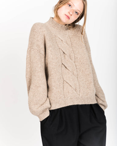 Twist cable sweater