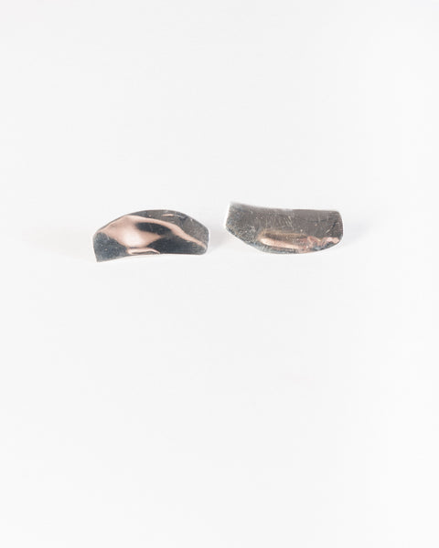 Irregular flat earrings in Silver