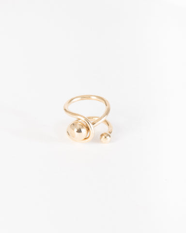 Orbit ring in brass