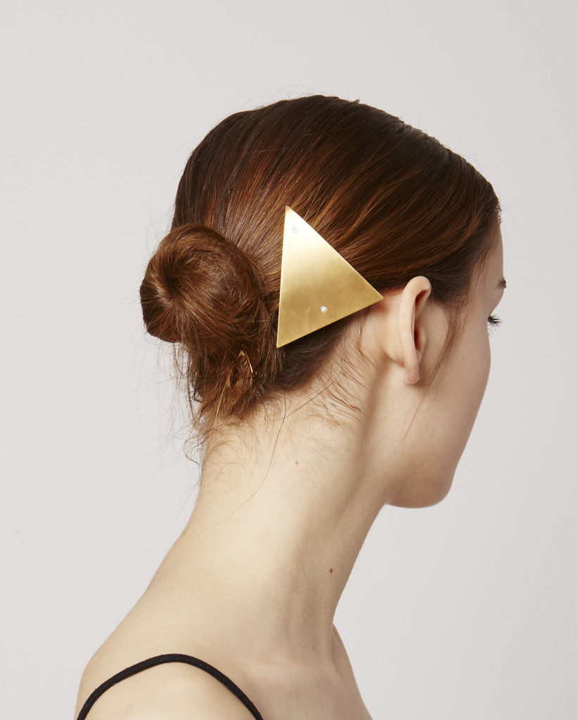 Hair clip HC03 in gold