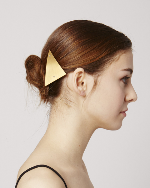 Hair clip HC03 in shiny gold