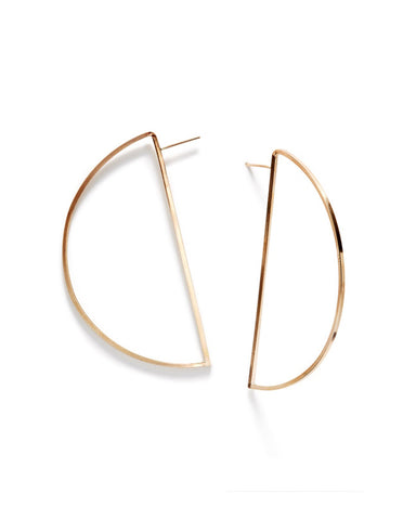 Wire Halfmoon Hoops earrings