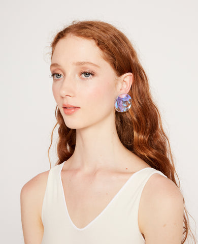 Small reflection medusa earrings