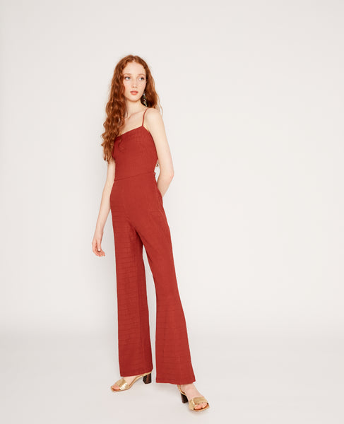 Ava jumpsuit in Wine