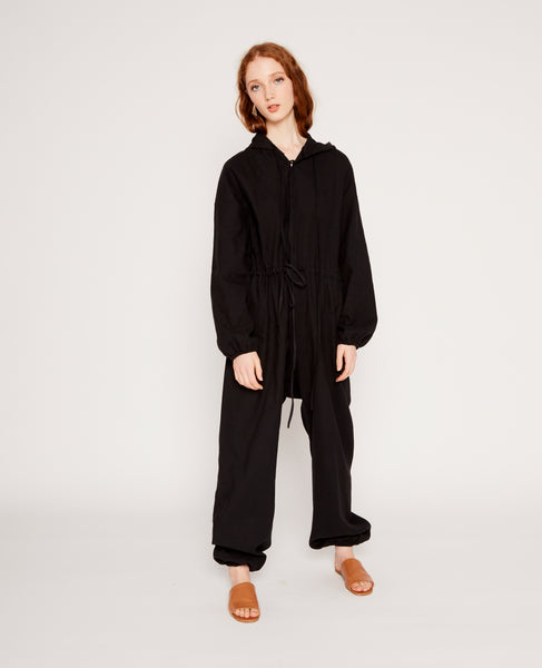 Eder silk jumpsuit in black