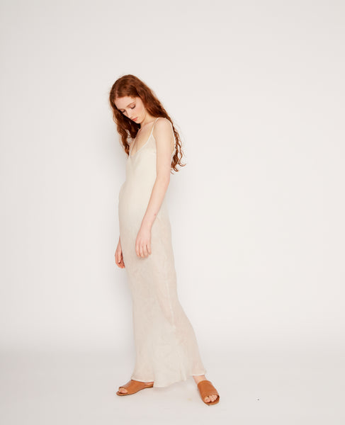 Dydine linen strap dress