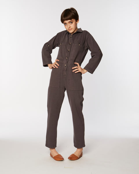 Utility jumpsuit in brown