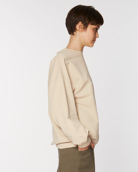 Boxy sweatshirt in Cream