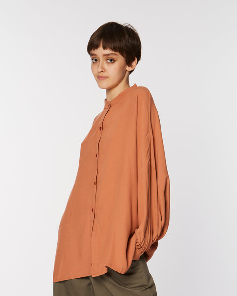 Maxi shirt in clay