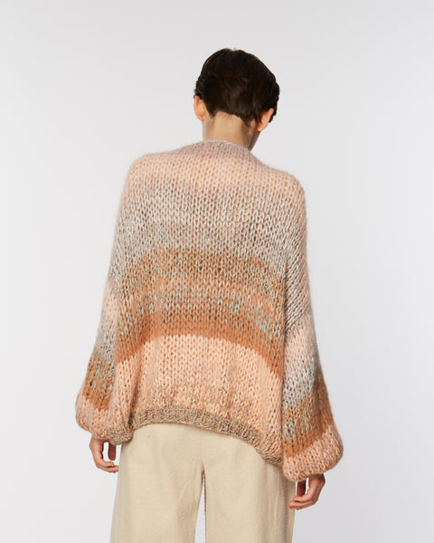 Ombre Mohair big cardigan