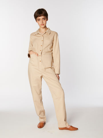 Tia coverall in Toast
