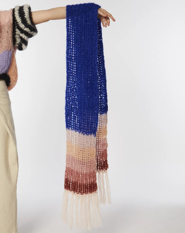 Mohair gradient scarf