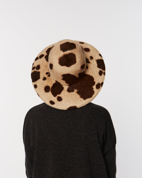 Baldwin fur felt in cow print