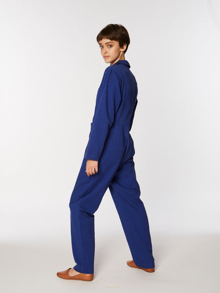 Tia coverall in Mazarine blue