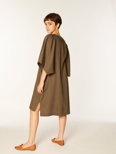 Iona dress in Peat