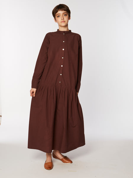 Winona dress in aubergine