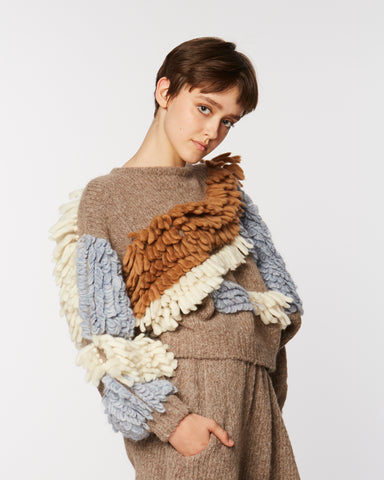 Paladora sweater in brown combo