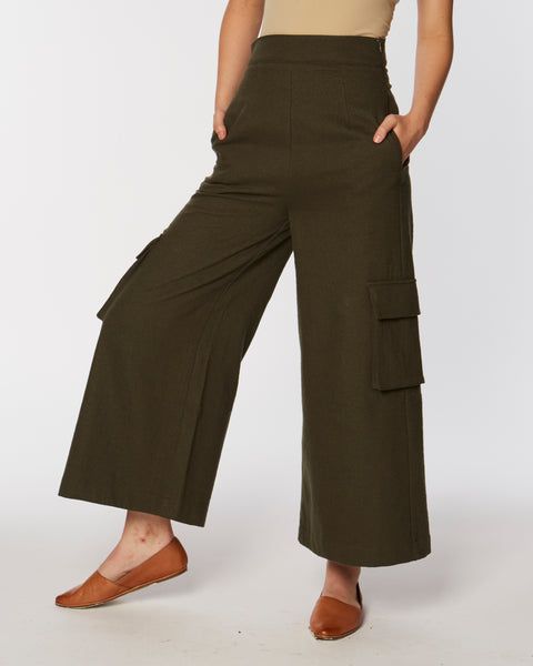 Catonia Pant in olive