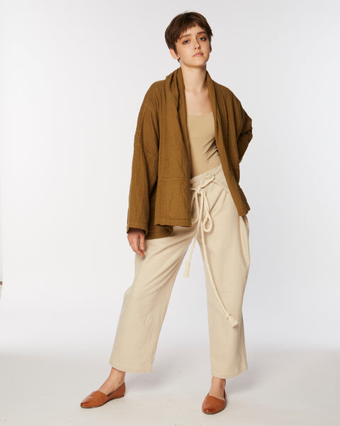 Parachute Pant in cream
