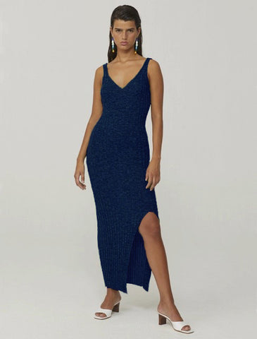 Livin knit dress in cobalt blue