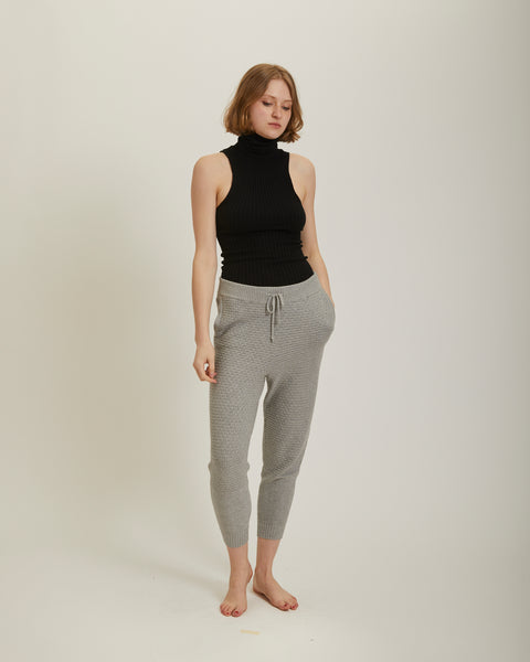 Brickstitch jogger pants in grey