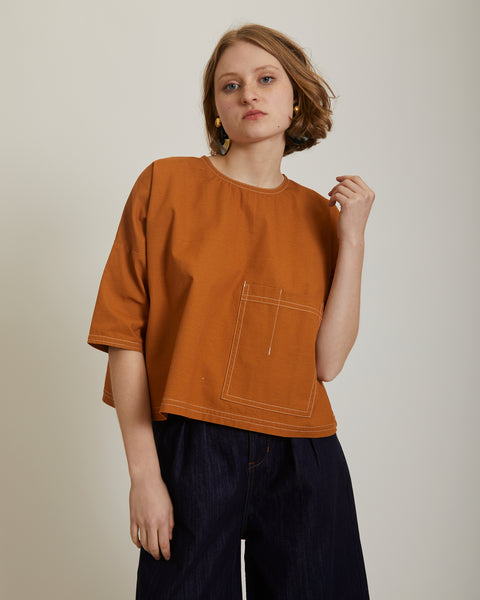 Harley top in terracotta