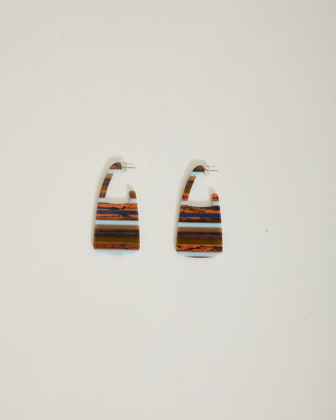 Elsie earrings in layered stone
