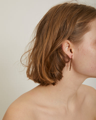 Jagged pin earrings