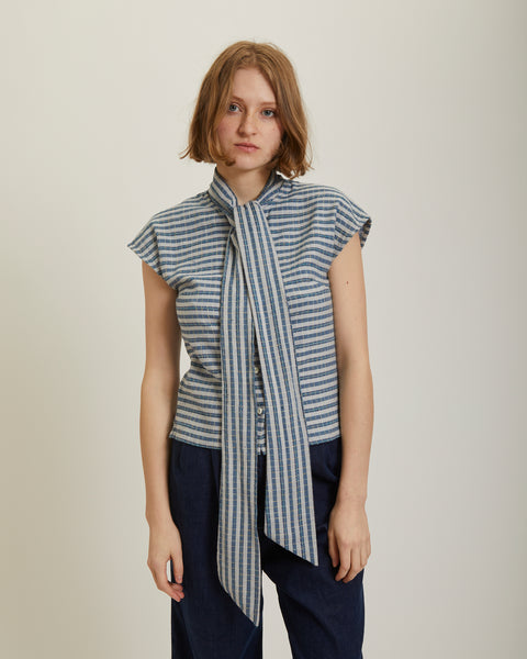 Page blouse in Starboard