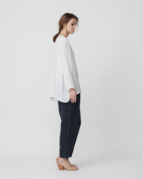 Crushed Cotton Shirt in Off-White - Founders & Followers - Revisited Matters - 2