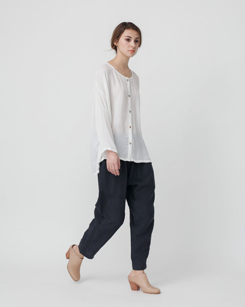 Crushed Cotton Shirt in Off-White - Founders & Followers - Revisited Matters - 4