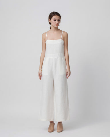 Lucia Jumpsuit in White - Founders & Followers - Luisa et la luna - 1