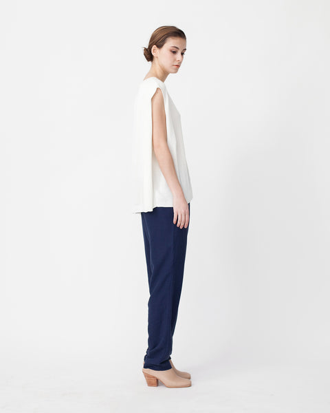 Linen Knit Top With Folded Sides - Founders & Followers - Achro - 2