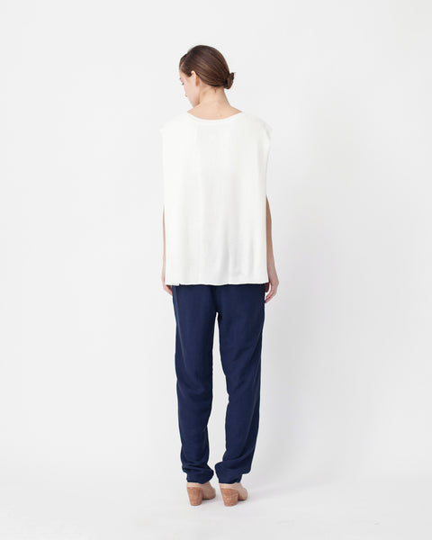 Linen Knit Top With Folded Sides - Founders & Followers - Achro - 3