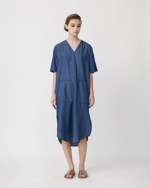 Tencil Denim Dress in Dark Blue - Founders & Followers - Achro - 1