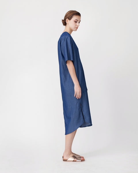 Tencil Denim Dress in Dark Blue - Founders & Followers - Achro - 2