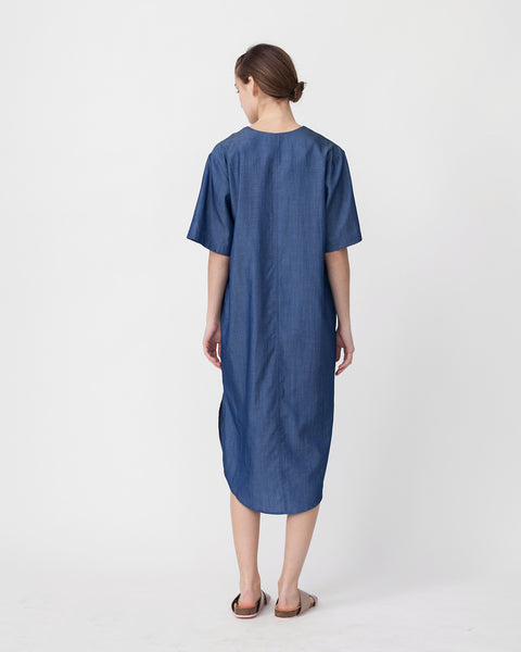 Tencil Denim Dress in Dark Blue - Founders & Followers - Achro - 3