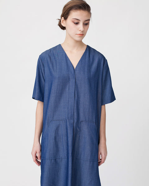 Tencil Denim Dress in Dark Blue - Founders & Followers - Achro - 5