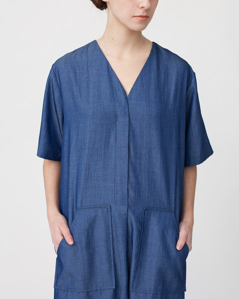 Tencil Denim Dress in Dark Blue - Founders & Followers - Achro - 6