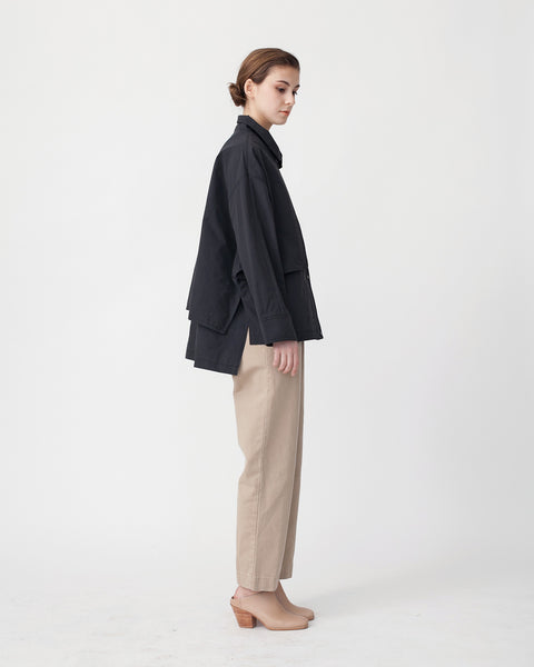 Oversized Cropped Trench Jacket - Founders & Followers - Achro - 3