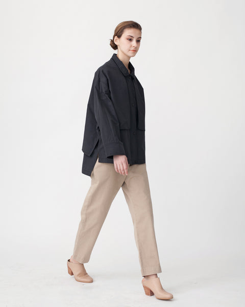 Oversized Cropped Trench Jacket - Founders & Followers - Achro - 5