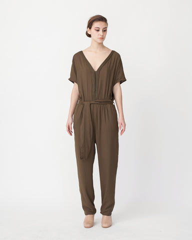 Mara Jumpsuit in Khaki - Founders & Followers - Sessun - 1