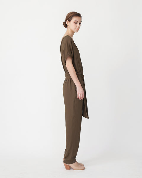 Mara Jumpsuit in Khaki - Founders & Followers - Sessun - 2